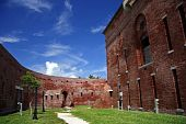 stock photo of martello  - An historic Civil War fortification in Key West - JPG