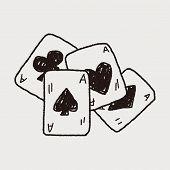 stock photo of poker hand  - Doodle Poker - JPG