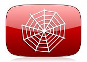 picture of spider web  - spider web red glossy web icon  - JPG