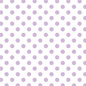 Big Lavender Polka Dots On White