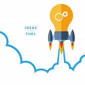 Ideas is your fuel. Concept for creativity, big idea, creative work, starting new project. poster