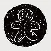 foto of gingerbread man  - Gingerbread Man Doodle - JPG
