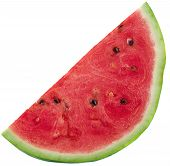image of watermelon slices  - fresh Slices of watermelon on white background - JPG