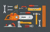 foto of nail-cutter  - Construction tools objects vector icons - JPG