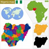 stock photo of nigeria  - Administrative division of the Federal Republic of Nigeria - JPG