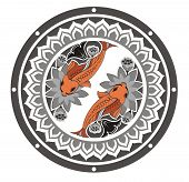 stock photo of koi tattoo  - Decorative lucky fish for your design - JPG