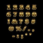 image of symbol punctuation  - Golden numbers and punctuation marks addon for golden alphabet - JPG