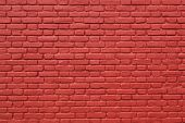 picture of stonewalled  - horizontal part of red painted brick wall - JPG