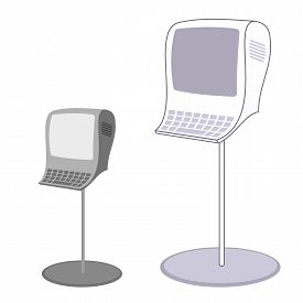 picture of payment methods  - Payment terminals for receiving money in the sales rooms - JPG