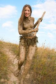 foto of tarzan  - Beautiful hunter in loincloth totally wild body - JPG
