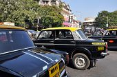 Indian Cabs In Traffic Jam