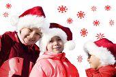 Kids Playing Santa Claus