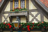 Architectural Details With Christmas Decoration poster