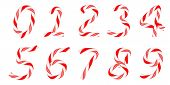 Candy Cane Font 0-9 Numerals