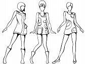 Mod girls sketch