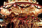 Children Merry-go-round At Christmas Market In Dresden