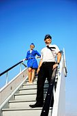 foto of cabin crew  - Picture of a beautiful cabin crew couple - JPG