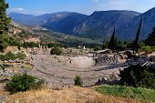 The Theatre From Delphi, Greece Landmark