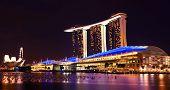 Singapore Marina Bay Sands By Night