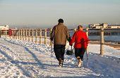 Walking in the snow, Hastings