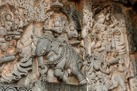 pic of belur  - A section from the world famous hoysala architecture in India