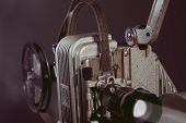 Close-up Of An Old Film Projector. poster