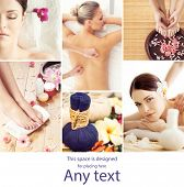Young, beautiful and healthy woman getting traditional oriental aroma therapy and massaging treatmen poster