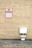 toilet outside