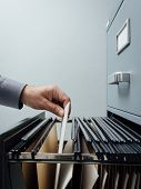 Office Clerk Searching For Files poster
