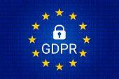 Gdpr - General Data Protection Regulation. Vector poster