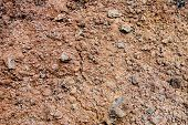 image of scoria  - Volcanic soil in Lanzarote Canary Islands Spain - JPG
