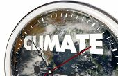 Climate Change Clock Earth Hands Ticking 3d Illustration - Elements of this image furnished by NASA poster