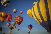 Tourists Ride Hot Air Ballons During A Mass Ascension