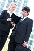 Business People Outdoors poster