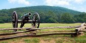 Civil War era cannon overlooks Kennesaw Mountain National Battlefield Park