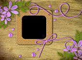 Vintage Photo Frames And Lilac Flowers