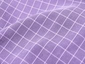 Pleated Checkered Violet Fabric Closeup. Good For Background.