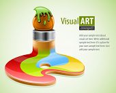 paint brush as symbol of visual art vector illustration