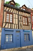 Half Timbered And Wooden House In The Center Of Amiens, France