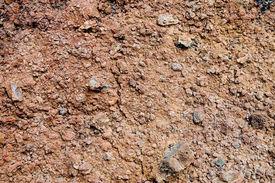 stock photo of scoria  - Volcanic soil in Lanzarote Canary Islands Spain - JPG