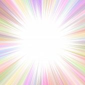 Colorful Psychedelic Abstract Ray Burst Background With Blank Space In The Center poster