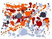 Graffiti Spray Stains Grunge Background Vector. Decorative Ink Splatter, Spray Blots, Mud Spot Eleme poster