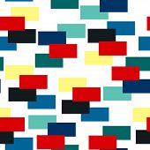 Abstract Brick Pattern.  Avant-garde Collage Style. Geometric Wallpaper For Business Brochure,  Cove poster