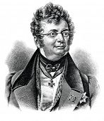 Dmitry Knyazhevich - the trustee of the Odessa school district (Ukraine). Engraving by Shyubler. Pub
