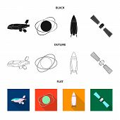 Bitmap Illustration Of Mars And Space Symbol. Set Of Mars And Planet Bitmap Icon For Stock. poster