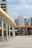 bus terminal in Hong Kong.