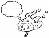 overheated brain cartoon