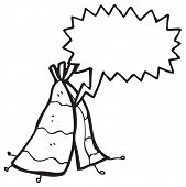 indian tepee cartoon