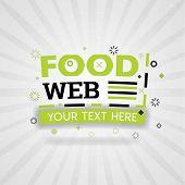 Green Logo For Food Web. For Food Cover App, Booking Restaurant, Food Websites, Recipe Food, Finger  poster