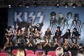 LOS ANGELES - MAR 20:  KISS; Motley Crue at the Kiss and Motely Crue Tour Press Conference at the Ro